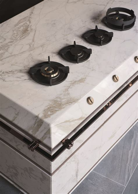 cucina marble marble metal the new fendi kitchen