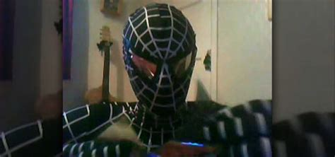 How To Make A Paper Costume - how to make and attach lenses to a mask for a spider
