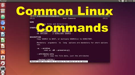 Tutorial Linux Command Line | commonly used linux commands