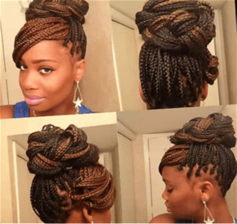 side bun for box braids 6 gorgeous box braids styles you ll fall in love with in 2015