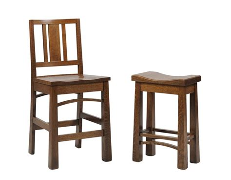 Mission Style Counter Height Bar Stools by Bradford Mission Barstool Saddle Stool Available In Bar