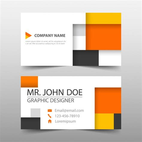 Cube Business Card Template by Business Card Cube Template Design Vector Free