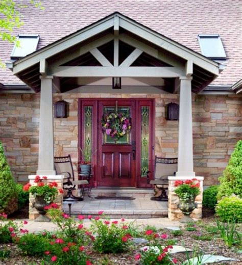 ranch house front porch intersecting gable roof to ranch house porches decks forum gardenweb front porch