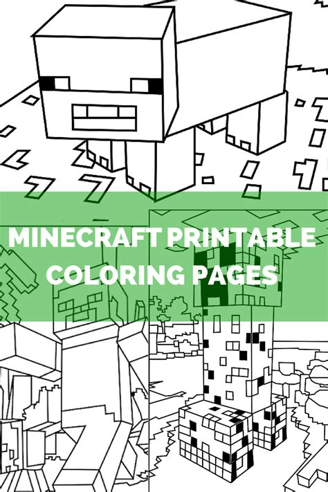 mine craft coloring pages minecraft coloring pages