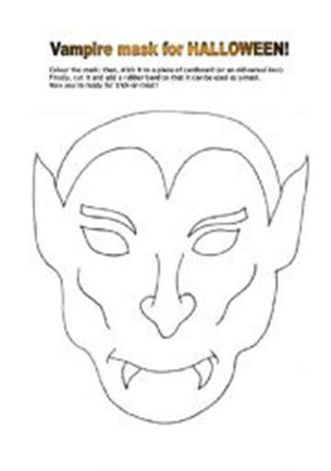 printable dracula mask english worksheet vire mask for halloween
