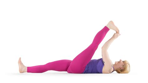 reclining big toe reclining big toe pose yoga international