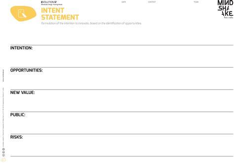 design thinking template pdf intent statement evolution 6 178 mindshake s innovation
