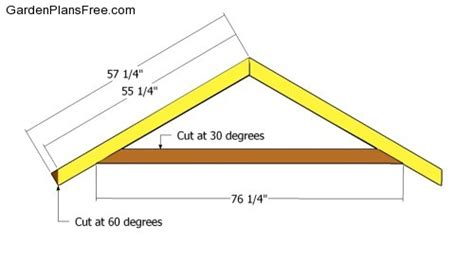 How To Make Trusses For Shed by Diy How To Build Roof Trusses Plans Free