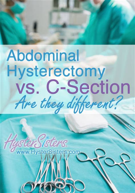 pre op for c section abdominal hysterectomy vs c section pre op hysterectomy