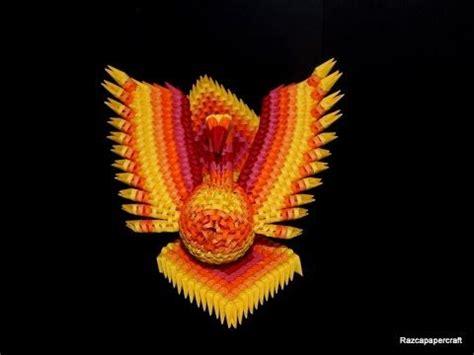 Origami 3d Phoenix Tutorial | 3d origami phoenix tutorial 1 3d origami fire bird part1