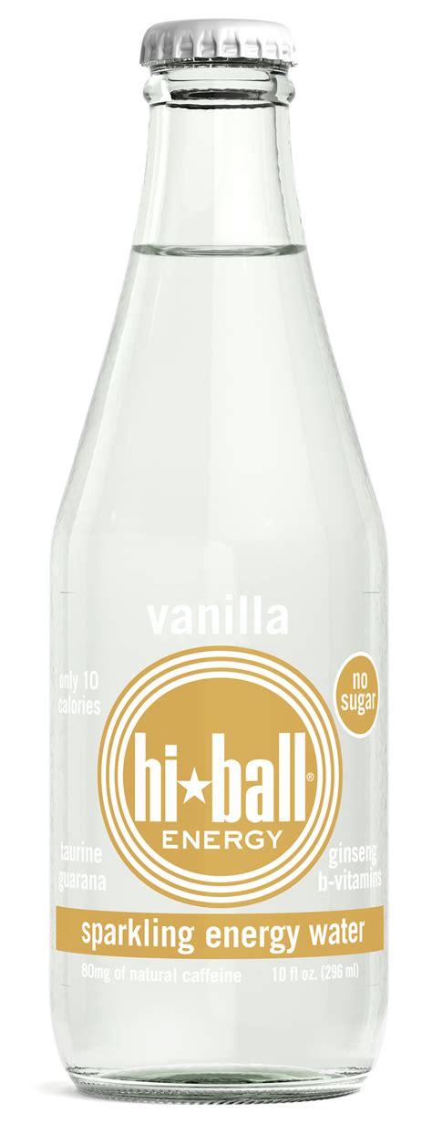 hi energy water hiball launches vanilla sparkling energy water