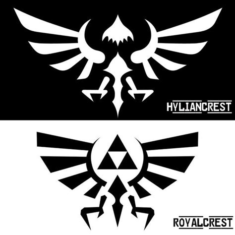 hylian crest tattoo hylian crest vs royal crest crests