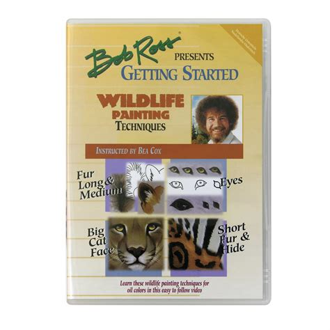bob ross painting kit and dvd wildlife painting techniques dvd craftyarts co uk