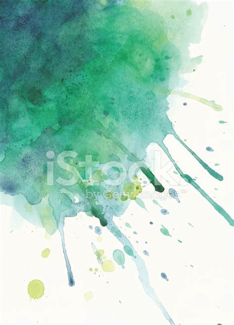 green watercolor splash stock vector freeimagescom