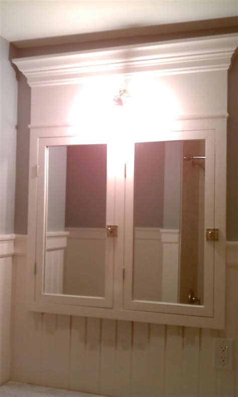 built in medicine cabinet white custom built in medicine cabinet diy projects