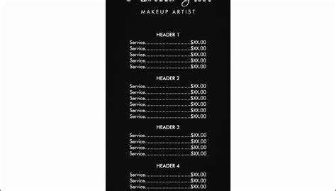 menu price list template price list templates executive administrative assistant