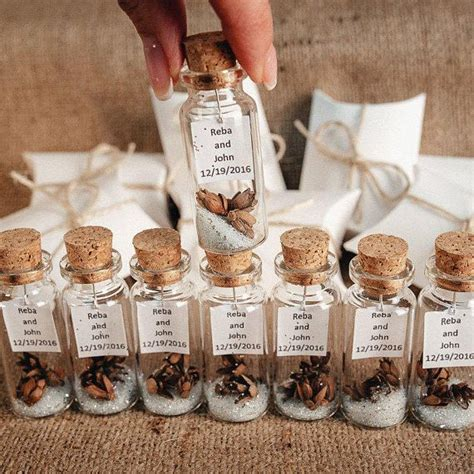 wedding favors for guests message in a bottle rustic wedding favor personalized winter unique