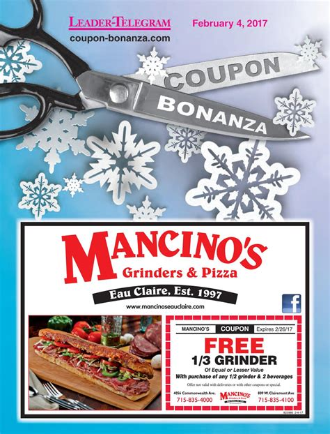 pro cuts eau claire coupons coupon bonanza winter 2017 by leader telegram issuu