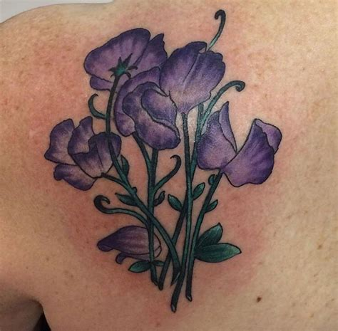 sweets tattoo designs purple sweet pea tatoos and
