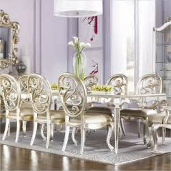 Dining table in silver leaf by american drew contemporary dining