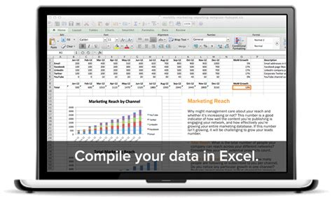 digital marketing report template excel free monthly marketing tracking template excel aginto