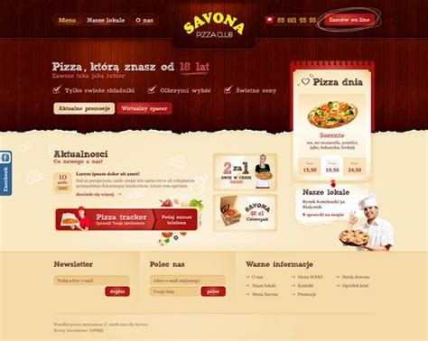 pizza shop website template 30 fresh and stunning website design interfaces from