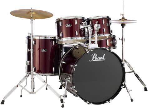 Pearl Roadshow Drum Set 4pcs pearl roadshow 5pc drum set with wuhan cymbals wine sweetwater