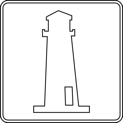 lighthouse outline clipart