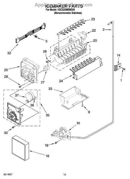 whirlpool refrigerator maker parts diagram whirlpool 2317200 valve inlt appliancepartspros