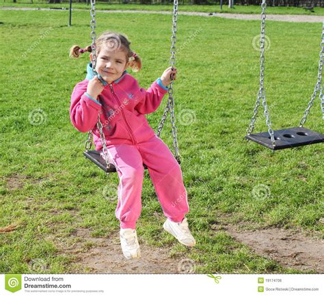little girl on swing little girl on swing royalty free stock image image