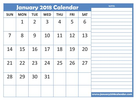 Romania Calendrier 2018 January 2018 Calendar In Pdf Excel Word January 2018