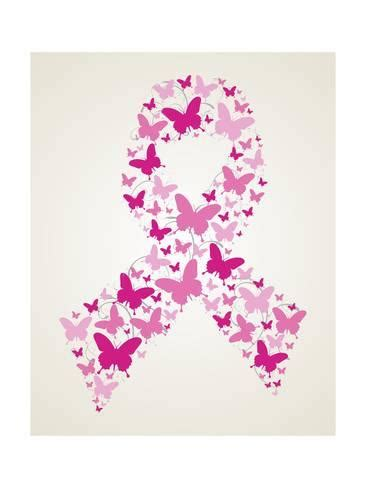 Removable Wall Murals Wallpaper butterfly in breast cancer awareness ribbon print by