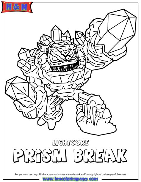 skylander coloring pages free coloring pages of skylander prism