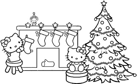 hello kitty christmas coloring pages online christmas stocking coloring pages az coloring pages