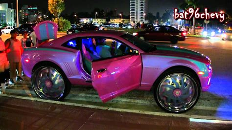 nba 2k12 on tv s outrageous pink blue camaro on 32 s hd