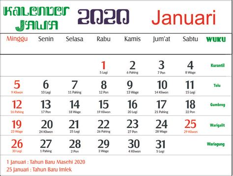 kalender  lengkap  pasaran sosialpost