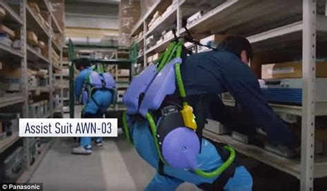awn jobs panasonic reveals exoskeletons that allow wearer to run