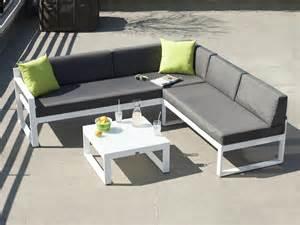 salon de jardin bas 5 places canap 233 d angle table basse