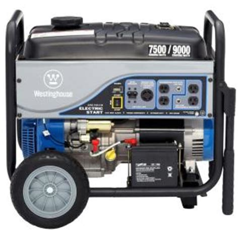 westinghouse 7 500 watt gasoline powered electric start