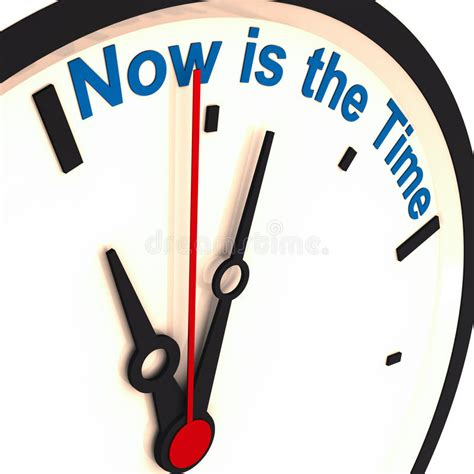 now is the time now is the time stock illustration illustration of indicator 24560928
