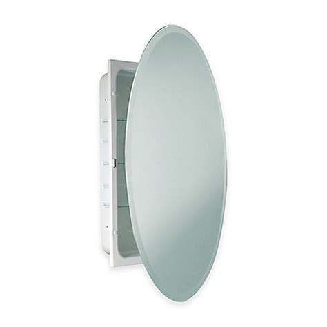 beveled mirror medicine cabinet recessed buy oval beveled recessed mirrored medicine cabinet in