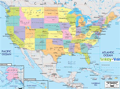 map of usa states cities usa map