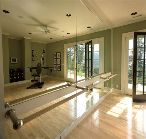ideas for an at home dance space ballet bar traditional hgtv 2006 dream home traditional home gym other by