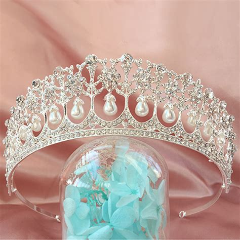 Wedding Hair Accessories Uk Ebay by Vintage Wedding Bridal Pearl Crown Diana Tiara Princess