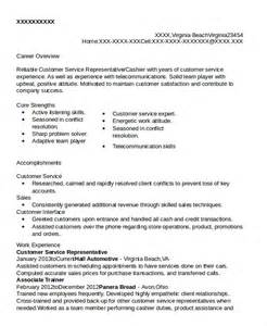 free sle resume for customer service representative customer service rep resume sle resume for customer