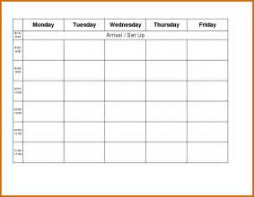 monday to friday calendar template 11 monday through friday printable calendar lease template