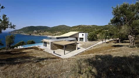 modern greek house design greek island house frames beautiful sea views freshome com