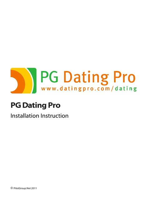 dating pro installation instructions