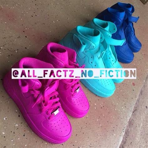 all color air ones all factz no fiction custom neon color air ones