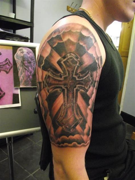 religious half sleeve tattoos 17 best ideas about religious sleeves on